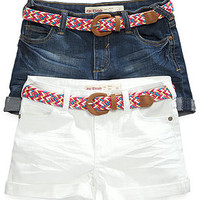 Epic Threads Girls' Belted Shortie Shorts
