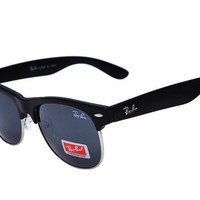 Ray Ban Clubmaster Classic RB3016 Black Sunglasses