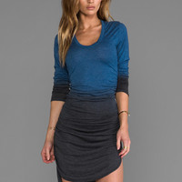 Saint Grace Rayon Jersey Amelie Ruched Dress in Cadet-OW from REVOLVEclothing.com