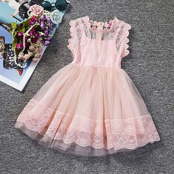 Summer Baby Dress Girl Princess Party Dresses for Girl Beauty Lace Wedding Dress Children's Clothing Baby Kids Costume