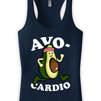 Funny Running Tank Avo-Cardio Racer Back Tank Exercise Clothing Running Gifts American Apparel Fitness Tank Top Ladies Tank Tops WT-177