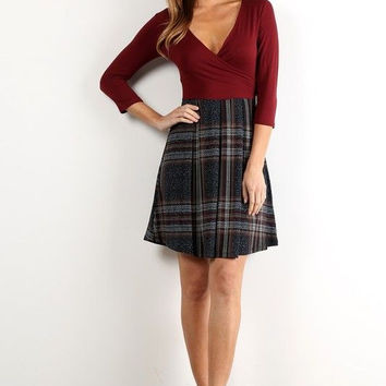Plaid About Town Dress