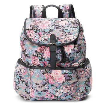 Candie's Nicole Floral Backpack (Pink)