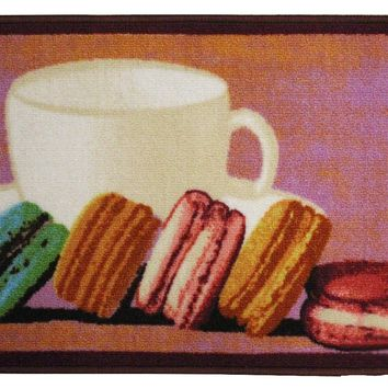 Macaron Kitchen Rug, Macaroon Accent Decor Kitchen Mat Non-skid Area Rug