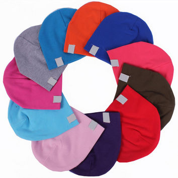 2016 baby hat Pure Cotton Turtleneck Knit caps for children NewBorn Soft Toddler Infant  winter hat for little bady