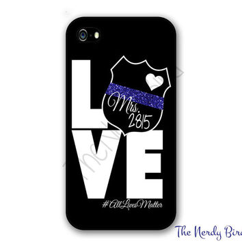 Police Wife Phone Case for Apple iPhone 4, 5, 5c, 6, 6 plus Samsung Galaxy s3, s4, s5 and s6, Note 3 and 4 & Phone Stand - Custom Badge #