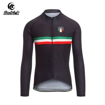 Sedrick Long Sleeve Outdoor Sports Cycling Jersey Bicycle MTB Road Bike Bicycle Team Shirt Cycle Clothing Maillot Ciclismo