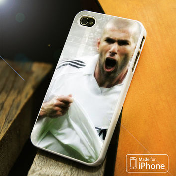 Zidane Playing for Real Madrid iPhone 4 5 5C SE 6 Plus Case