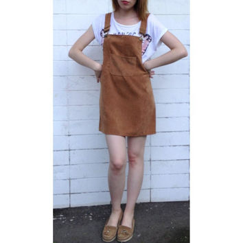 Korean Fashion Autumn 2017 Women Elegant Pockets Suspender Skirt Corduroy Sleeveless Overalls Skirts