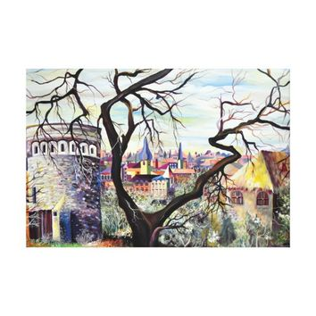 Dreamscape Luxembourg bohemian city Canvas Print