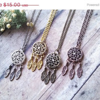 ON SALE Sweet Dream Catcher Necklaces // Native American Jewelry // Boho Accessories // American Indian Necklaces // Southwestern Bohemian