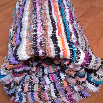 Moroccan handmade recycle rug colorful free shipping! ! !