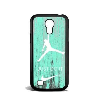 Nike Jordan Mint Wood Samsung Galaxy S4 Mini Case
