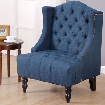 Costway Modern Tall Wingback Tufted Accent Armchair
