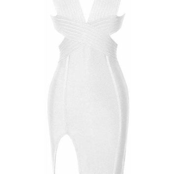 Maeve Bandage Dress - White