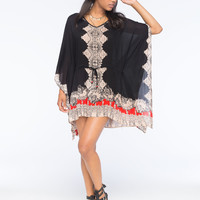 ANGIE Scarf Print Caftan Dress | Short Dresses