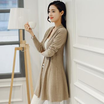 Women Cashmere Stitched Cardigans