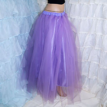 Lavender Pastel Purple Floor Length Formal Fantasy Skirt adult ALL SIZES MTcoffinz