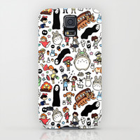 Kawaii Ghibli Doodle Galaxy S5 Case by KiraKiraDoodles