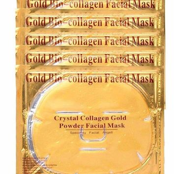 Gold Bio Crystal Collagen Facial Face Mask - korean Beauty Skincare
