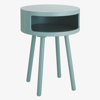 BUMBLE GREYS Lacquered Sage grey side table - HabitatUK