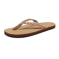 Women's Flirty Braidy Leather Sandal in Sierra Brown by Rainbow Sandals