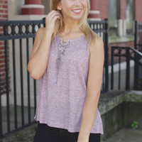 When in Rome Top - Mauve