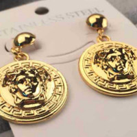 Fashionable and classic fashion accessories high quality head round three-dimensional temperament earrings