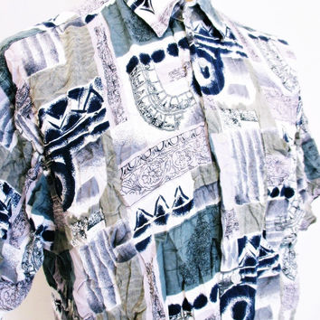 Vintage 1990s Shirt Urban Renewal Outfitters Street Style Outsized Large