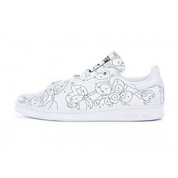 Adidas STAN SMITH RO W womens fashion-sneakers S80292_9.5 - FTW White/FTWWH/Black