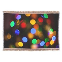 Multicolored Christmas lights. Throw