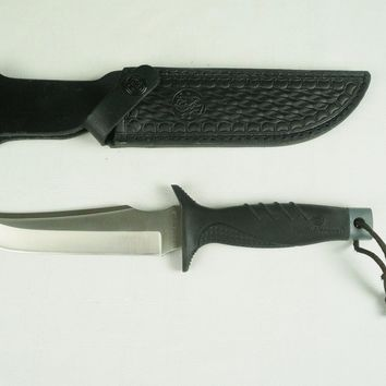 EUC Smith and Wesson S&W Large Hunting Knife Fixed Blade w/ Sheath SW-970