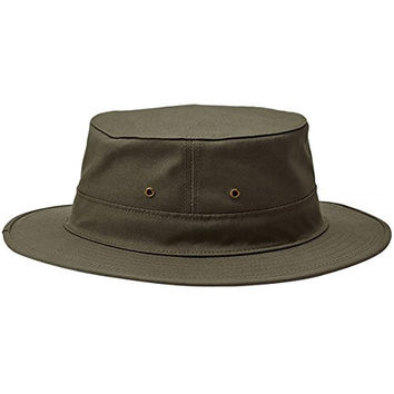 Filson Original Tin Cloth Hat-Dry Shelter Cloth - Otter Green