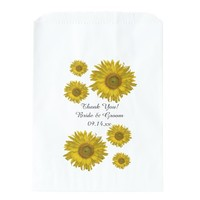 Yellow Sunflowers Wedding Thank You Favor Bags