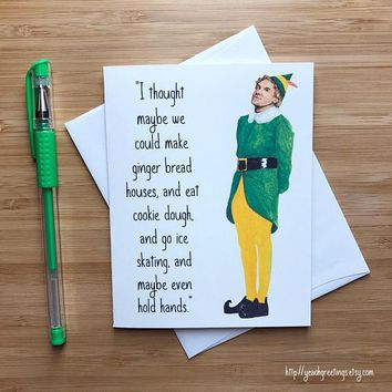Will Ferrell Buddy The Elf Funny Christmas Card Holiday Card FREE SHIPPING