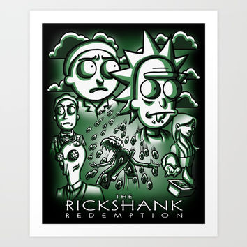 The Rickshank Redemption Art Print by Punksthetic