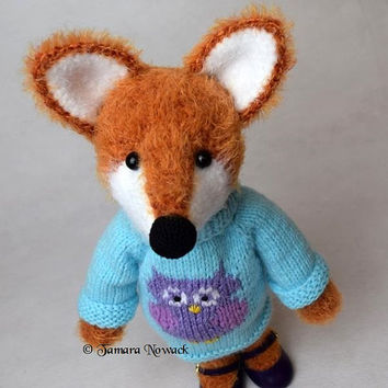 Lissy the Foxy Girl amigurumi PDF ebook crochet knit pattern