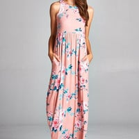 Garden Party Maxi Dress - Soft Pink
