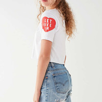 Let Love In Cropped Tee | Urban Outfitters