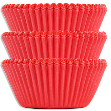 Electric Red Baking Cups