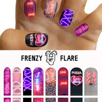 Neon Sign Nail Decals. Nail Art