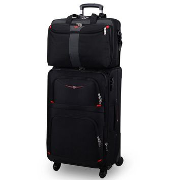 18 20 22 24 26 28inches picture commercial trolley luggage sets on universal wheels with 15inch computer army knife bag sets