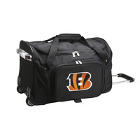 Cincinnati Bengals  22'' Rolling bottom Duffel-Black
