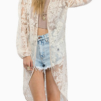 Sheer Ivory Lace Kimono Blouse | The Handmade Hustle