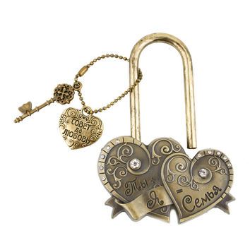 "Exclusive design souvenir charm ""You+my castle wedding=7"" Concentric lock the wedding decoration for Together forever original"