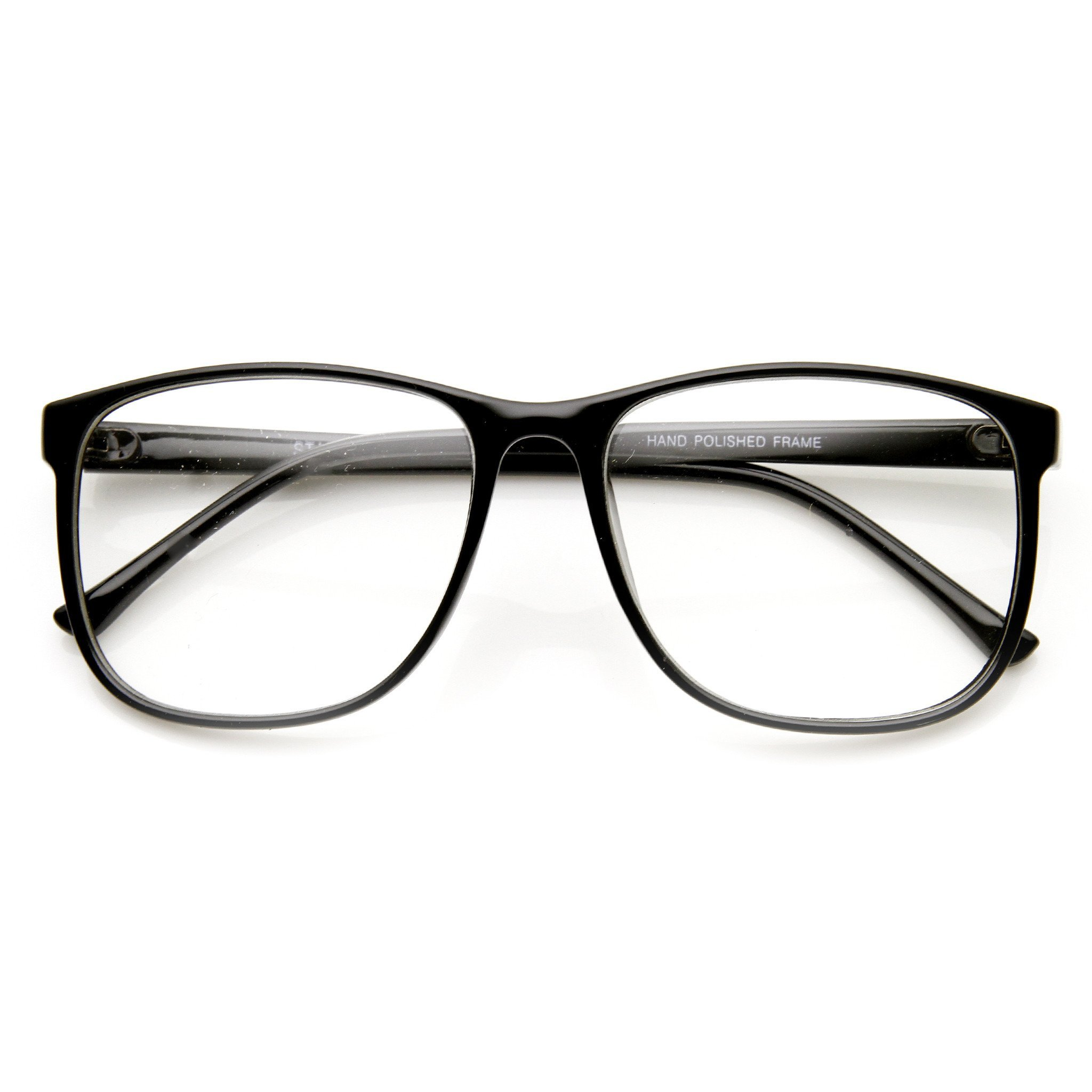 7b06f718d8a Large Retro Nerd Hipster Fashion Clear Lens Glasses 9339