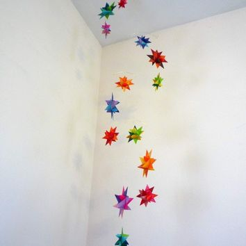 Hanging Nursery Origami Star Mobile 'Orion' by theStarcraft