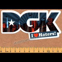 DGK - I Love Haters NYC - Dirty Ghetto Kids Skateboard Sticker