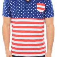 Men's American Flag T-Shirt | Tipsy Elves