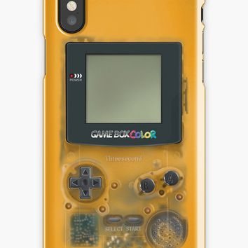 'Classic transparent yellow mini video games' iPhone Case/Skin by Galih Sanjaya Kusuma wiwaha